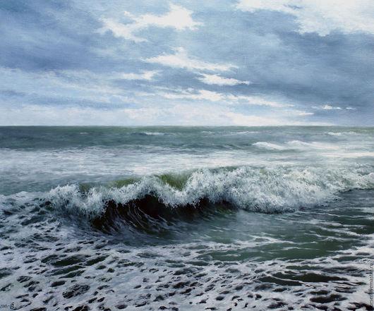 """Пейзаж ручной работы. Ярмарка Мастеров - ручная работа. Купить """"О море, море..."""". Handmade. Синий, море"""
