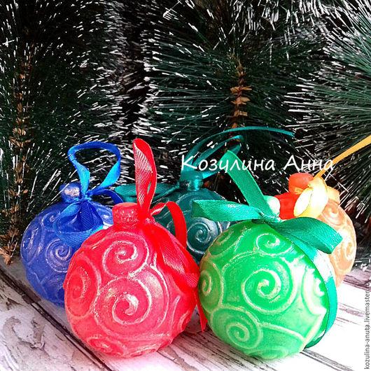 мыло новогоднее,новый год,новогодняя игрушка,елочная игрушка,елочный шар,мыло елочный шар,новогодний подарок,мыло сувенирное