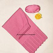 """Одежда ручной работы. Ярмарка Мастеров - ручная работа Юбка вязаная спицами.Из хлопка розовая """"Нежность"""" с ажуром. Handmade."""