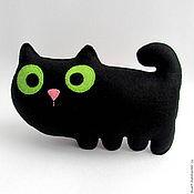 Куклы и игрушки ручной работы. Ярмарка Мастеров - ручная работа Фетровый черный котик. Handmade.
