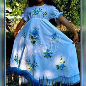 """Платья ручной работы. Ярмарка Мастеров - ручная работа Платье """"Для девочки с глазами цвета неба"""". Handmade."""