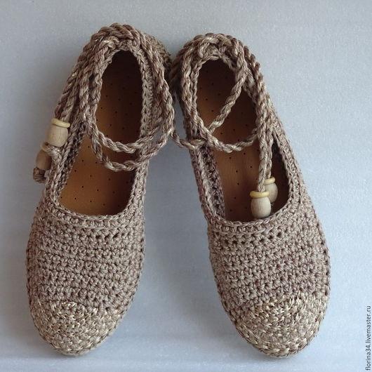 Обувь ручной работы. Ярмарка Мастеров - ручная работа. Купить Балетки уличные Лето в разгаре р.41 бохо. Handmade.