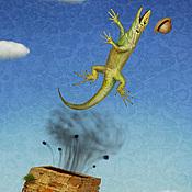 """Картины и панно ручной работы. Ярмарка Мастеров - ручная работа Фотосказка """"Алиса в стране чудес. Билль вылетает в трубу"""". Handmade."""