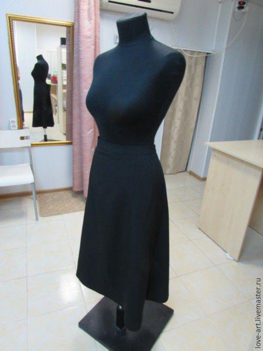 """Юбки ручной работы. Ярмарка Мастеров - ручная работа. Купить юбка """"Грация"""". Handmade. Черный, женская одежда, габардин"""