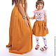 Одежда для девочек, ручной работы. Оранжевая юбка для девочки. natasha-assol - для мамы и дочки (natasha-assol). Интернет-магазин Ярмарка Мастеров.