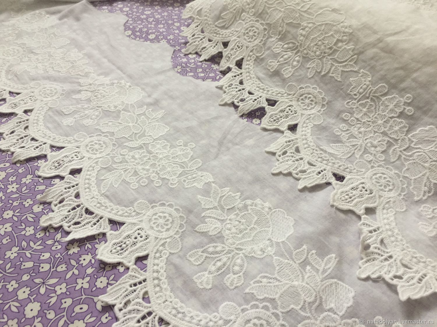 Sewing handmade. Livemaster - handmade. Buy Sewing on Batista Royal Shire.20 cm.White, lace for garment