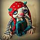 Коллекционные куклы ручной работы. Ярмарка Мастеров - ручная работа. Купить Бусь. Handmade. Ярко-красный, игрушка, акриловые краски