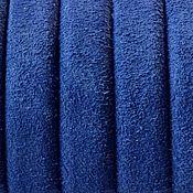 Материалы для творчества ручной работы. Ярмарка Мастеров - ручная работа Шнур регализ замшевый, синий,  10х6мм. Handmade.