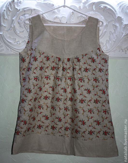 Большие размеры ручной работы. Ярмарка Мастеров - ручная работа. Купить Льняная блузка (в одном экз.) р-р 50. Handmade.