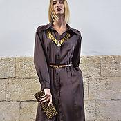 Одежда ручной работы. Ярмарка Мастеров - ручная работа Платье Ненси из шелка. Handmade.