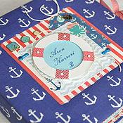 """Канцелярские товары ручной работы. Ярмарка Мастеров - ручная работа Альбом для мальчика """"Sea Adventure"""". Handmade."""