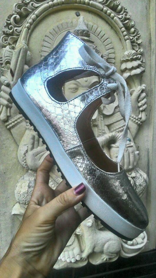 Обувь ручной работы. Ярмарка Мастеров - ручная работа. Купить Туфли спортивные. Handmade. Туфли из питона, обувь из кожи питона