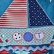 """Детская ручной работы. Текстильный мешочек для мальчика """"Морской"""". 'Настроение в горошек' (ViktoriaSP). Ярмарка Мастеров. Мешочек с аппликацией, украшение интерьера"""