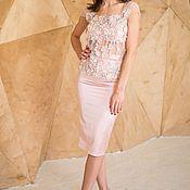 Одежда ручной работы. Ярмарка Мастеров - ручная работа Топ из роскошного Кружева ElieSaab и юбка. Handmade.
