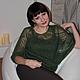 Кофты и свитера ручной работы. Мохеровая блуза темно-зеленая. Вербицкая Екатерина (keva). Ярмарка Мастеров. Блуза, уютный подарок