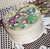 """Для дома и интерьера ручной работы. Ярмарка Мастеров - ручная работа """"Первоцветы"""" шкатулка.. Handmade."""
