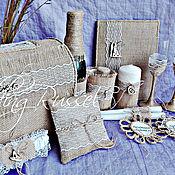 """Свадебный салон ручной работы. Ярмарка Мастеров - ручная работа Свадебный набор """"Рустик"""". Handmade."""