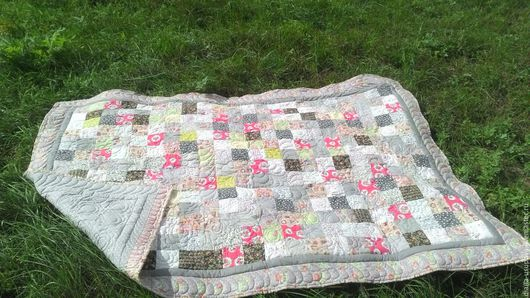 Текстиль, ковры ручной работы. Ярмарка Мастеров - ручная работа. Купить Лоскутное одеяло Шебби шик. Handmade. Комбинированный