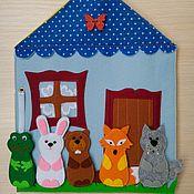 Куклы и игрушки ручной работы. Ярмарка Мастеров - ручная работа Пальчиковый театр из фетра (в домике). Handmade.