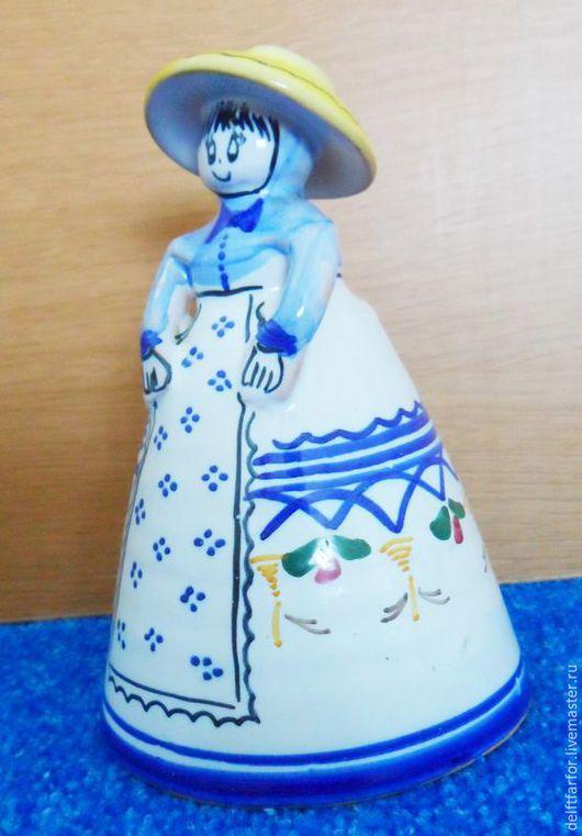 """Винтажные куклы и игрушки. Ярмарка Мастеров - ручная работа. Купить Колокольчик """"Барышня-Крестьянка"""". Handmade. Голубой, колокольчик керамический"""