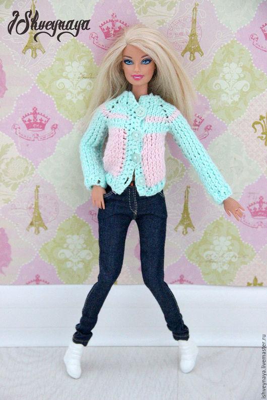 """Одежда для кукол ручной работы. Ярмарка Мастеров - ручная работа. Купить Модные джинсы для Барби """"Miss"""". Handmade. Тёмно-синий"""