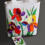 """Сумки и аксессуары ручной работы. Ярмарка Мастеров - ручная работа Кожаная сумка """"Flowers-2"""". Handmade."""