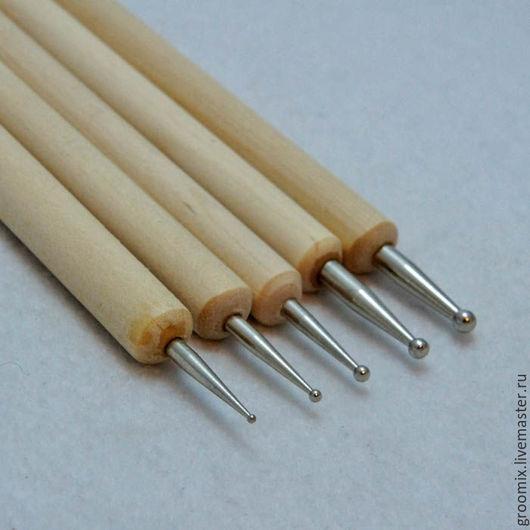 Набор стило 5 шт, размеры наконечников с одной стороны у всех 1,5 мм, с другой 0,5, 1, 1,5, 2, 2,5 мм - 290 руб