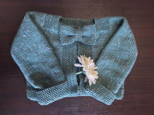 Кофты и свитера ручной работы. Ярмарка Мастеров - ручная работа. Купить Кардиган (свитер) для девочки. Handmade. Кардиган вязаный