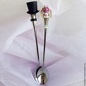 Свадебный салон ручной работы. Ярмарка Мастеров - ручная работа Жених и невеста - фигурка на торт. Handmade.