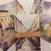 """Открытки ручной работы. Ярмарка Мастеров - ручная работа Авторский набор открыток """"Акварельные города"""". Handmade."""