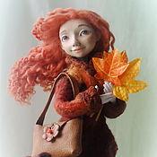 """Куклы и игрушки ручной работы. Ярмарка Мастеров - ручная работа Авторская кукла """"Осенняя прогулка"""". Handmade."""