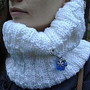"""Аксессуары ручной работы. Ярмарка Мастеров - ручная работа Снуд вязаный """"Айсберг""""  шарф вязаный унисекс. Handmade."""