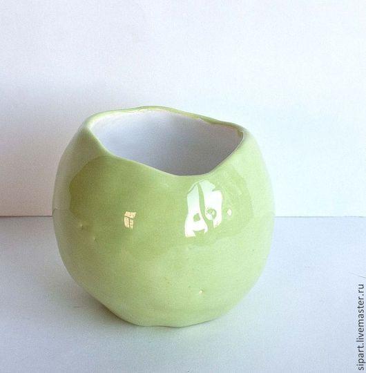 """Пиалы ручной работы. Ярмарка Мастеров - ручная работа. Купить Пиала """"Зеленое яблоко"""". Handmade. Мятный, авторская керамика"""