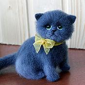 Куклы и игрушки ручной работы. Ярмарка Мастеров - ручная работа Валяный котенок Варя. Handmade.
