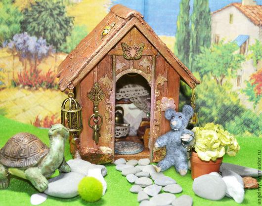 Кукольный дом ручной работы. Ярмарка Мастеров - ручная работа. Купить Домик для зверушки, миниатюра арт. № А009. Handmade.