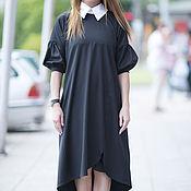 Одежда handmade. Livemaster - original item Stylish dress with white collar - DR0117PLV. Handmade.
