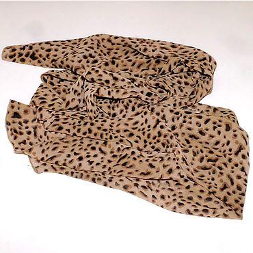 Аксессуары ручной работы. Ярмарка Мастеров - ручная работа Леопардовый шарф, натуральный шелк. Handmade.