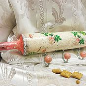 Для дома и интерьера handmade. Livemaster - original item Hanger-rolling pin Rose, shabby, decoupage. Handmade.