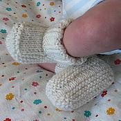 """Работы для детей, ручной работы. Ярмарка Мастеров - ручная работа Пинетки - носочки """"Топтыжки"""" (7-14 см). Handmade."""