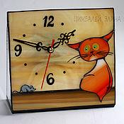 """Для дома и интерьера ручной работы. Ярмарка Мастеров - ручная работа Витражные часы """"Шкода"""". Handmade."""