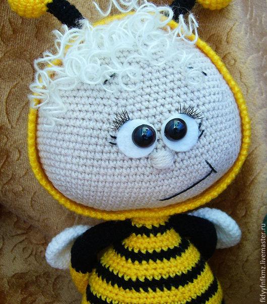 Игрушки животные, ручной работы. Ярмарка Мастеров - ручная работа. Купить Боня в костюме пчелки. Handmade. Вязаная игрушка крючком