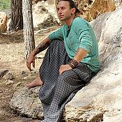 Одежда ручной работы. Ярмарка Мастеров - ручная работа Штаны Алибаба мужские с карманами. Handmade.