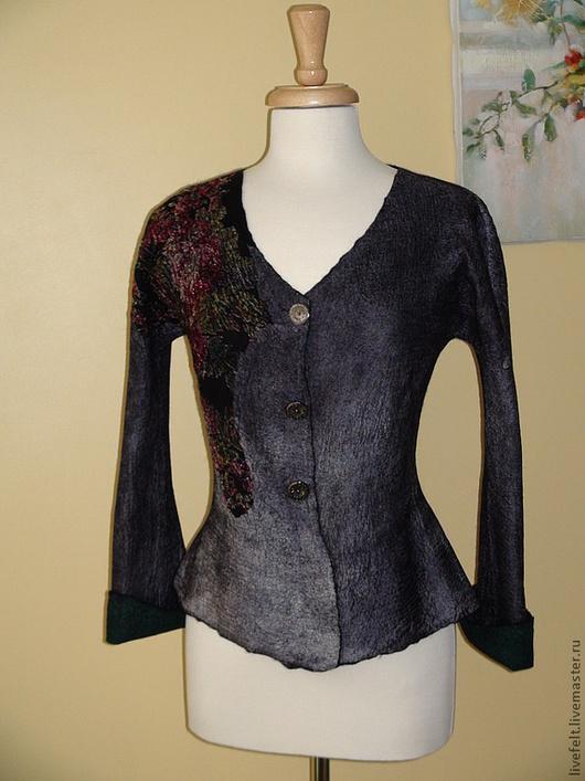 Пиджаки, жакеты ручной работы. Ярмарка Мастеров - ручная работа. Купить Валяный пиджак 2 в 1. Handmade. Жакет, цветочный