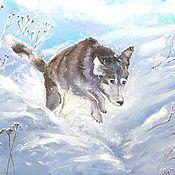 Картины и панно handmade. Livemaster - original item Oil painting canvas Games in the snow. Handmade.