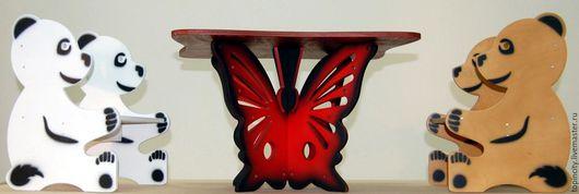 """Детская ручной работы. Ярмарка Мастеров - ручная работа. Купить Детский стол """"Бабочка"""". Handmade. Столик, влагостойкий лак"""