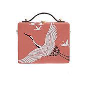 Сумки и аксессуары handmade. Livemaster - original item Women`s coral bag made of wood with painting. Handmade.