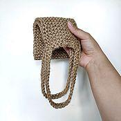 Мочалки ручной работы. Ярмарка Мастеров - ручная работа Мочалка натуральная из 100% джута для спины. Handmade.