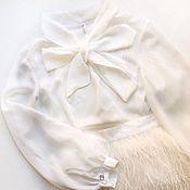 Одежда ручной работы. Ярмарка Мастеров - ручная работа Шелковая блуза с бантом. Handmade.