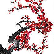Картины и панно ручной работы. Ярмарка Мастеров - ручная работа Цветущая ветвь китайская живопись. Handmade.