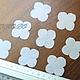 Ткань для цветов ручной работы. Ярмарка Мастеров - ручная работа. Купить Гортензия, вырубка (3,5 см), хлопок 50 шт. Арт. ВГ17900. Handmade.